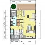 新潟市東区海老ケ瀬新町土地の建物プラン2例の1階間取り図