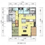 新潟市東区海老ケ瀬新町土地の建物プラン例の1階間取り図