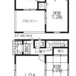 新潟市北区松浜の新築住宅【2号棟】の間取図