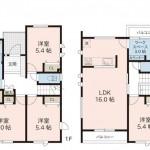 新潟市中央区女池の新築住宅【A棟】の間取図