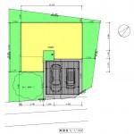 新発田市城北町土地の建物プラン例1の配置図