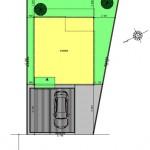 新潟市東区海老ケ瀬新町土地の建物プラン2例の配置図
