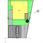 新潟市東区海老ケ瀬新町土地の建物プラン例の配置図