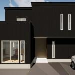 新発田市城北町土地の建物プラン例1の外観パース