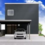 新潟市東区海老ケ瀬新町土地の建物プラン例2の外観パース
