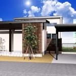 新潟市江南区曽野木の土地の建物プラン例1の外観パース