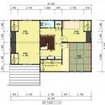 新発田市城北町土地の建物プラン例1の2階間取り図