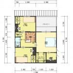 新潟市東区海老ケ瀬新町土地の建物プラン2例の2階間取り図
