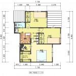 新潟市東区海老ケ瀬新町土地の建物プラン例の2階間取り図