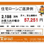 新潟市西区小新西の中古住宅の住宅ローン返済例