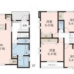 新潟市中央区女池の新築住宅【B棟】の間取図