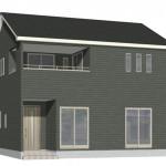 新潟市東区牡丹山の新築住宅の2号棟外観パース