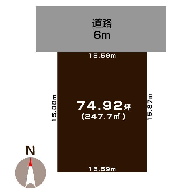 新発田市月岡温泉の【土地】の敷地図
