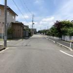 新潟市秋葉区中野の【土地】の前面道路写真