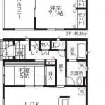 新潟市南区能登の新築住宅【2号棟】の間取図