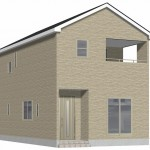 新潟市北区東栄町の新築住宅《3号棟》の外観完成予定パース