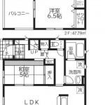 新潟市南区能登の新築住宅【1号棟】の間取図