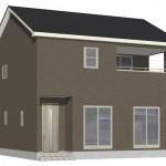 新潟市南区能登の新築住宅【2号棟】の外観完成予定パース