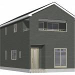 新潟市北区東栄町の新築住宅《4号棟》の外観完成予定パース