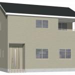 新潟市北区東栄町の新築住宅《1号棟》の外観完成予定パース