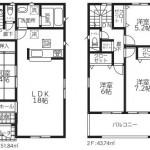 新潟市北区東栄町の新築住宅《4号棟》の間取り図