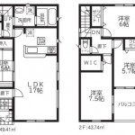 新潟市北区東栄町の新築住宅《3号棟》の間取り図