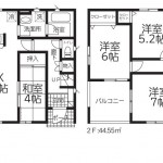 新発田市本町4丁目の新築住宅の間取図