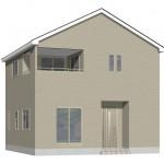 新発田市西園町3丁目【2号棟】の新築住宅の外観完成予定パース