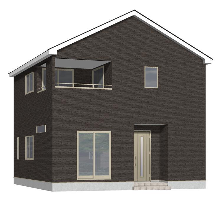 新発田市西園町3丁目【1号棟】の新築住宅の外観完成予定パース