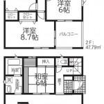 新発田市西園町3丁目【1号棟】の新築住宅の間取図