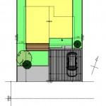 五泉市三本木の土地の建物プラン例の配置図