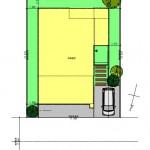 五泉市三本木の土地の建物プラン例3の配置図
