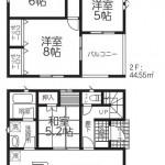 新発田市西園町3丁目【2号棟】の新築住宅の間取図