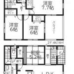 西区上新栄町2丁目【全2棟】の新築住宅の2号棟間取図