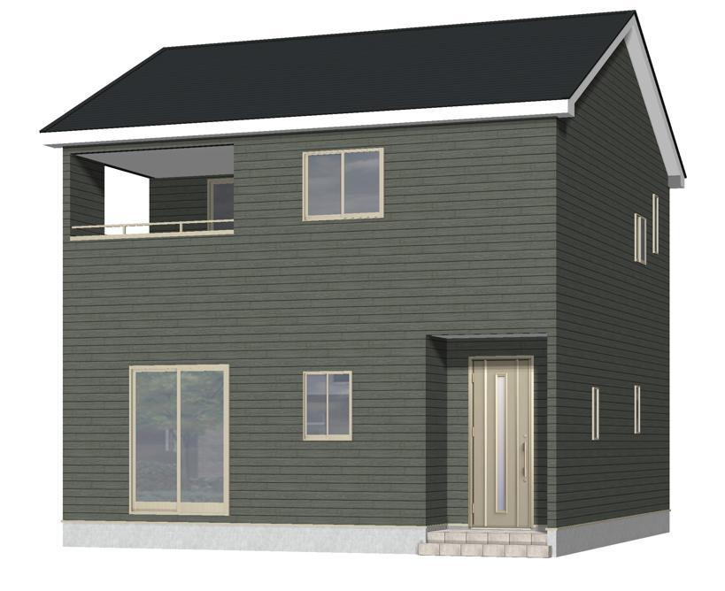 新発田市本町4丁目の新築住宅の外観完成予定パース