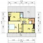 五泉市三本木の土地の建物プラン例の2階間取図