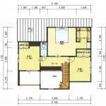 五泉市三本木の土地の建物プラン例2の2階間取図