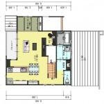 五泉市三本木の土地の建物プラン例3の2階間取図