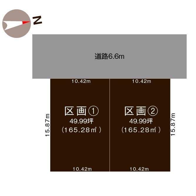新潟市秋葉区山谷町2丁目【全2区画】の土地の敷地図