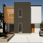 五泉市三本木の土地の建物プラン例2の外観パース