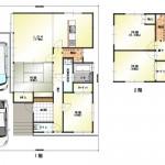 新潟市北区濁川の中古住宅の間取図