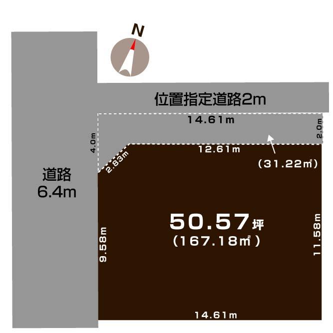 新潟市中央区新和の土地の敷地図