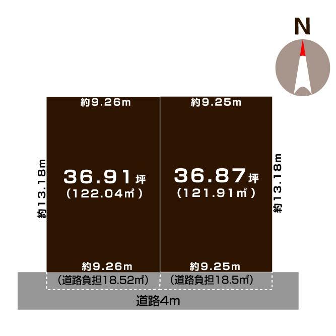 新潟市中央区女池3丁目の土地の敷地図