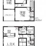 新潟市北区松浜新町の新築住宅【2号棟】の間取図