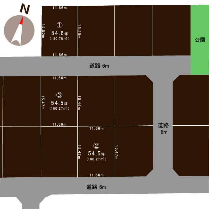 五泉市三本木の土地の敷地図