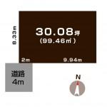 新潟市東区有楽1丁目の土地の敷地図