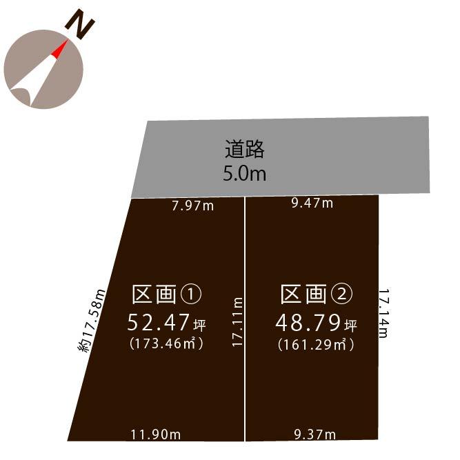 西区真砂の土地の敷地図