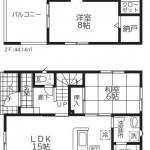 新潟市江南区五月町の新築住宅【3号棟】の間取図