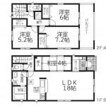 阿賀野市中島町の新築住宅の間取図