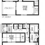 新潟市江南区五月町の新築住宅【1号棟】の間取図